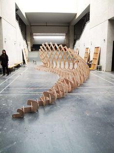 xujiong - grasshopper model in wood