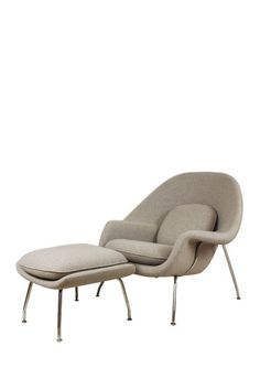 Womb Wheat Chair  Ottoman