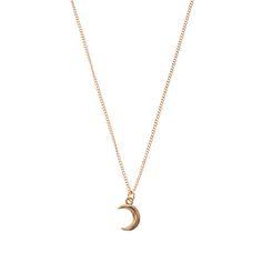 Collier à pendentif croissant de lune doré …