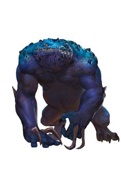 Slaad, Blue (from the D&D fifth edition Monster Manual). Art by Conceptopolis.: