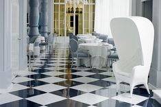 black and white floor | Black & White Polished Porcelain Tiles from Walls and Floors - Leading ...