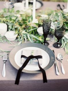 Organic Black and White Wedding Inspiration Photo Shoot from Taylor Lord Photography
