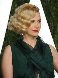 January Jones at the Vanity Fair Oscars party 2012