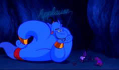 """During preview screenings, no one applauded after the songs, so as a joke, the animators added an """"Applause"""" sign over Genie at the end of """"Friend Like Me."""" It worked. 