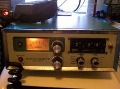 "Heathkit Meter Mobile Radio w/PL-tones) This radio was given to me by a local ham at our club's hamfest. I have gotten reports of it ""squealing"" so I took it off the air until I can investigate further. It may be a mic shielding issue. Ham Radio, Radios, Otaku, Electronics, Classic, Derby, Classic Books, Consumer Electronics"