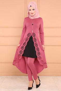 Modaselvim KOMBİN Lazer Kesim 3 Lü Kombin 00380-B329-S Gül Kurusu Long Dress Fashion, Modest Fashion Hijab, Modern Hijab Fashion, Pakistani Fashion Casual, Arab Fashion, Latest African Fashion Dresses, Pakistani Dress Design, Muslim Fashion, Fashion Outfits