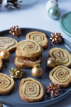 Weihnachtsplätzchen mit Zimt - Zimtschnecken Plätzchen