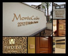 Entry: Best Design-Build Solution. MonteCedro Senior Living. Altadena, CA. ASI, Los Angeles. ASI created both interior & exterior signage that  complemented  the architectural style of MonteCedro,.The solution reflects the simple elegance of that day, greeting residents and their guests with natural bronze lettering, and—upon entering—with custom signage for all common areas, complemented by ASI's accessible Infinity™ signage for residence rooms that can be updated onsite by MonteCedro…