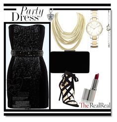 """It's Party time"" by mubinamesanovic ❤ liked on Polyvore featuring Balmain, FOSSIL, John Lewis, Nine West, Kendra Scott and Chrome Hearts"