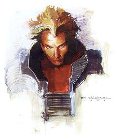 Feyd-Rautha/Sting by Bill Sienkiewicz