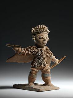 Anthropomorphic Figurine Creator: Culture Jama-Coaque Date: 500 B.C. - 1530 Provenance: Ecuadorian North Coast, Ecuadorian North Coast