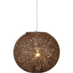 Buy Abaca Ball Shade - Chocolate at Argos.co.uk - Your Online Shop for Limited stock Home and garden, Lighting, Lamp shades.