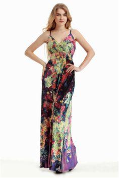 Women Summer Long Maxi Dress Plus Size 6XL Sexy V Neck Bangage Backless  Boho Dress - 49dd9a1c0c78