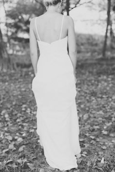 understated simplicity, our como gown