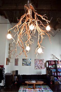 ECOMANIA BLOG: Lámparas de Techo Recicladas