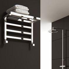 reina radiators > elvina shelf towel radiator (chrome). 350x500mm. - taps4less.com - #radiator #bathroom £199