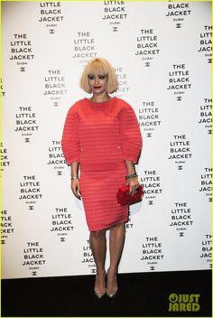 Rita Ora: Chanels Little Black Jacket Dubai Exhibition Opening