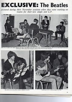 The Beatles Magazine - Rubber Soul sessions, Nov. 1965