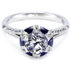 Tacori Sapphire Deco ring... Exquisite!  Available Tax Free at www.BozemanJewelry.com  #Tacori #sapphire #Bozeman #Montana