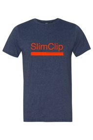 SlimClip Case • Heathered Navy Blue Tee Super Soft 90% Cotton   10% Poly Blend