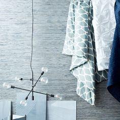 blue silver grasscloth wallpaper west elm cover thibault mid century white dresser bedroom furniture modern contemporary chandelier