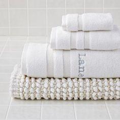 Fresh Start Bath Towel (White)   The Land of Nod