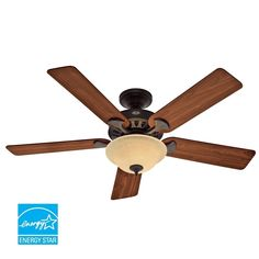"Hunter 53172 Sonora 52"" 5 Blade Energy Star Ceiling Fan - Blades and Light Kit Included"
