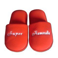 Pantufa Lovers Super Namorada Bordada > Conforto Store