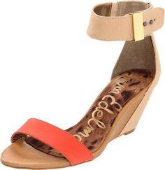 Sam Edelman Women's Sophie Wedge Sandal  shop all Sam Edelman customer reviews (8)  how it fits size: width: B color:  Persimmon/Natural  Silver/Natural  Saddle/Black