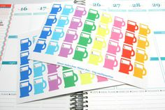 48 Gas Pump Money Planner Stickers For Your EC Life Planner