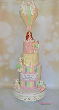 The Ocean in the Sky - Cake by Sumaiya Omar - The Cake Duchess SA Beautiful Cakes, Amazing Cakes, Beautiful Day, Hot Air Balloon Cake, Tooth Cake, Pastel Cakes, Incredible Edibles, Celebration Cakes, Cupcake Cakes