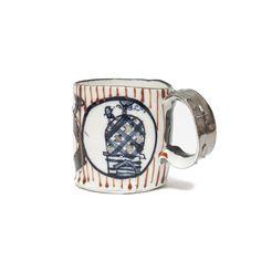 Aaron Scythe porcelain, underglaze, and glaze approx. Demi Cup, Nagasaki, Glaze, Porcelain, Ceramics, Mugs, Tableware, Projects, Red