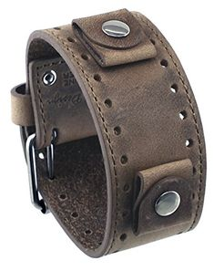 Rev #CHO-S Italian Design Crazy Horse 22mm Lug Width Wide Sand Brown Leather Cuff Watch Band - List price: $39.95 Price: $19.97