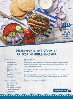 Pitabroodje met gyros en Griekse yoghurt dressing - Lidl Nederland