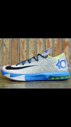 new concept ce36d e94bd Nike KD Pure Platinum, Night Factor, Vivid Blue, and Volt