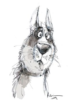 Keep it loose Cartoon Dog, Cartoon Drawings, Cute Drawings, Animal Sketches, Animal Drawings, Art Graphique, Illustrations And Posters, Animal Design, Dog Art
