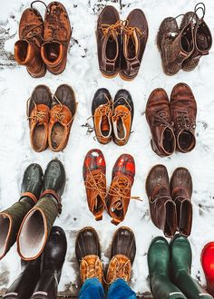 All kinds of boots and bean boots