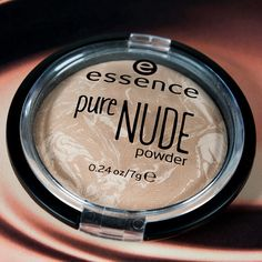 "our new ""pure nude powder"" with a beautiful marble design gives a mattified finish with a subtle glow effect. available in four shades. #essence #cosmetics #makeup #nudelook #beauty #marble #glow #powder #essenceupdate"