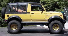 More flex, better ride, everything gets better with a Samurai YJ conversion. Rocky Road's Samurai YJ conversion is the most complete and best priced. Samurai, Suzuki Sj 413, Offroad, New Suzuki Jimny, Suzuki Cars, Mini 4wd, Best Tyres, Beautiful Men Faces, Mini Trucks