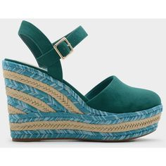 bdd71a09184 Charles   Keith Espadrille Wedges (160 PEN) ❤ liked on Polyvore featuring  shoes