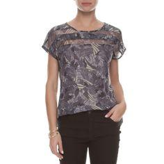 T-shirt ilusão - cinza - OQVestir