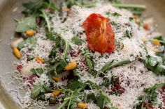 Carpaccio with truffle mayonnaise and Parmesan