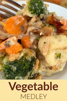 This Baked Vegetable Medley is a quick and easy vegetable casserole recipe with broccoli, cauliflower and carrots that is cheesy, creamy and crunchy. Using California Blend mixed veggies and adding Swiss cheese, sour cream, cream of mushroom soup and French fried onions is a great way to add flavor to the vegetables at the dinner table.
