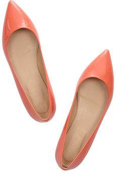 Great color! J.Crewpatent-leather ballet flats