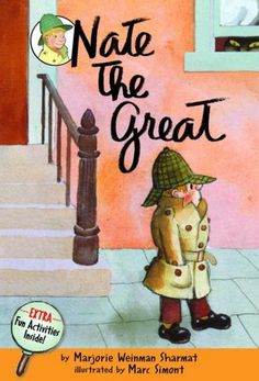 "Nate the Great Series!  Nate, the boy detective with a cool detachment who ""likes to work alone,"" solves the mystery and tracks down the culprit. Easy to read with dry British humor, this is one of our all time favorite series!"