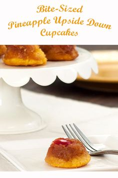 One of our most popular recipes - Pineapple Upside Down Cake - now in bite-sized mini cupcake form. Write your comments below for your baking tips and thoughts. Baking Tips, Baking Ideas, Cupcake Recipes, Dessert Recipes, Desserts, Pineapple Upside Down Cupcakes, Mothers Day Brunch, Most Popular Recipes, Bite Size