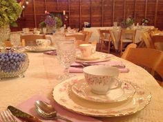 Mis matched China table setting