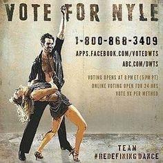 Vote for NYLE! #redefiningdance #nyledimarco #dwts #dwts22 #deaftalent #deaf