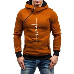 Color block thick pullover slim hooded hoodies in 2019 men's Mens Fashion Blazer, Preppy Mens Fashion, Guy Fashion, Fashion Photo, Winter Fashion, Hoodie Sweatshirts, Oxford Style, Mens Clothing Styles, Men's Clothing