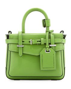 Boxer Micro Tote Bag, Green by Reed Krakoff at Neiman Marcus. Love the bag, but the color is iffy